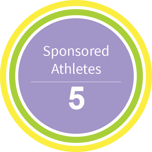 200 Sponsored Athletes