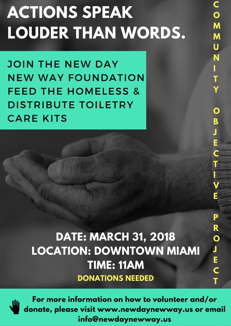 Community Objective Project: Feed the Homeless/Care Kit Drive